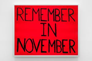 Remember in November by Sam Durant contemporary artwork