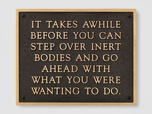 Living: It takes a while before you can... by Jenny Holzer contemporary artwork