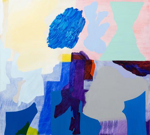 Tonee Messiah, Augment and Halt (2019). Oil on canvas, 137 x 152 cm. Courtesy Gallery 9, Sydney.