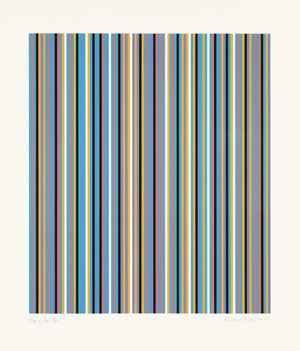Edge of Light by Bridget Riley contemporary artwork