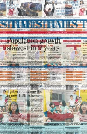 The Straits Times, Friday, September 27, 2013, Cover by Heman Chong contemporary artwork