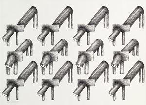 Lion Prides by Parviz Tanavoli contemporary artwork