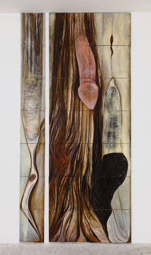 Dicks or Impregnation of the Universe by Mira Schor contemporary artwork