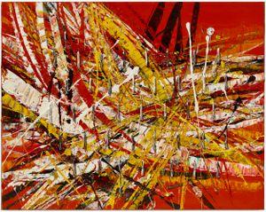 Untitled (Capri 53.77) by Mark Grotjahn contemporary artwork
