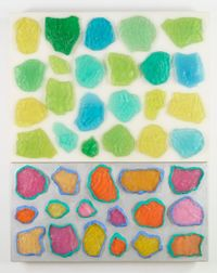Wall-Wall No. 18 (Clear/Silver) by Ashley Bickerton contemporary artwork mixed media