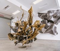 Noir's Cluster by Nancy Rubins contemporary artwork sculpture