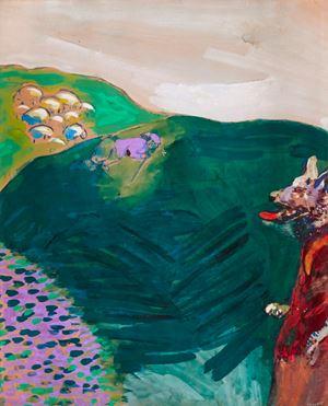 Le Loup devenu berger (Fables de La Fontaine) by Marc Chagall contemporary artwork