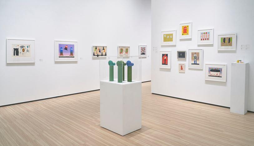 Exhibition view: Sadamasa Motonaga, Special Exhibition,Whitestone Gallery, Taipei (5 December 2020–10 January 2021). Courtesy Whitestone Gallery.