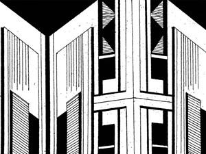 Non-Architectural Renderings 28 by Heba Y. Amin contemporary artwork