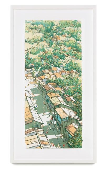Panorama Ubin (Changing Times: Main Street, Ubin series) by Ong Kim Seng contemporary artwork
