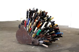 Knives in Bucket by Kevin Harman contemporary artwork