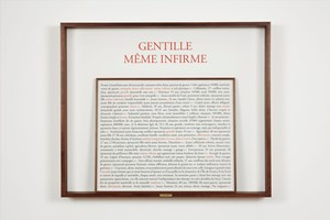 Gentille même infirme by Sophie Calle contemporary artwork