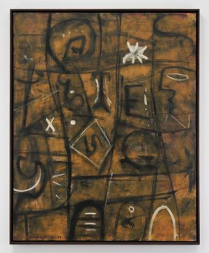 Inscription by Adolph Gottlieb contemporary artwork painting