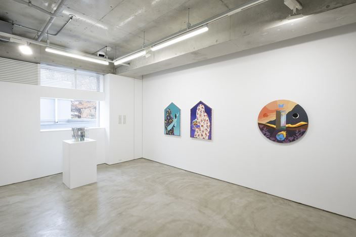 Installation view, artwork, left to right: Patrick Jackson; Amir H. Fallah; Greg Ito. Courtesy of MAKI.