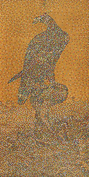 CMYK - Song dynasty/Anonymous/Falcon by Yang Mian contemporary artwork