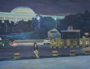 Night-Lit National Assembly of Korea by Dongwook Suh contemporary artwork