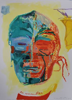 Ra Whiti Roa (study) by Shane Cotton contemporary artwork