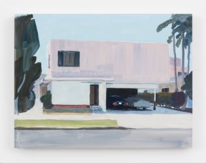 House with two cars by Jean-Philippe Delhomme contemporary artwork