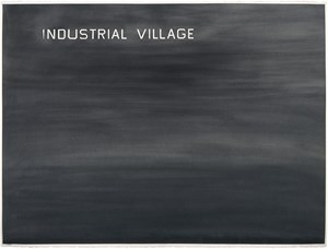 Industrial Village by Ed Ruscha contemporary artwork