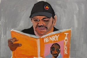 Self-Portrait (Looking for Henry Taylor) by Vincent Namatjira contemporary artwork