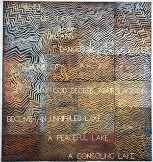 Gravity Wave by Imants Tillers contemporary artwork