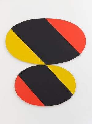 Constellation Yellow Black Red by Leon Polk Smith contemporary artwork