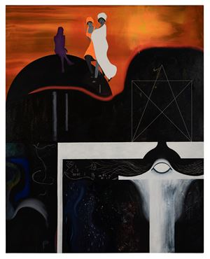 Purple Chooser (Jupiter) by Kirsten Glass contemporary artwork