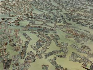 Saw Mills #3, Log Booms, Lagos, Nigeria by Edward Burtynsky contemporary artwork
