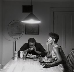 Carrie Mae Weems,Untitled (Playing harmonica) (1990). © Carrie Mae Weems. Courtesy the artist and Jack Shainman Gallery, New York.