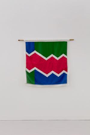 Beni Flag: Red Division by Samson Kambalu contemporary artwork