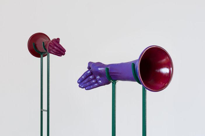 Elana Mann. Histophones(2014–2016).Plastic, enamel. Edition of 10.13.5 x 33.75 x 14 cm.Courtesy Baik Art, Los Angeles.