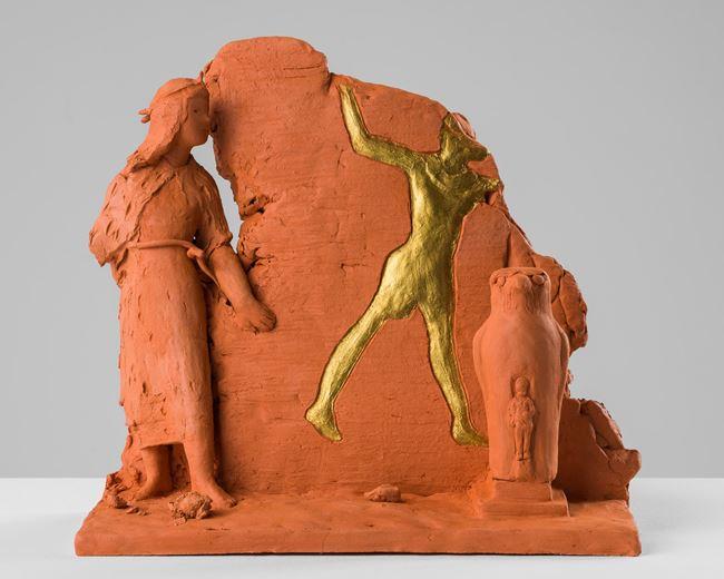 Scene at Edfu by Linda Marrinon contemporary artwork
