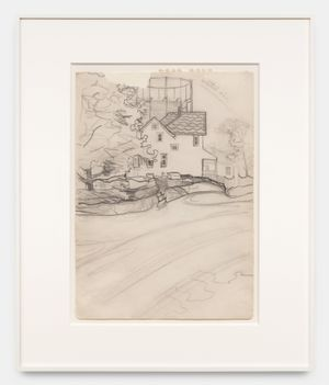 Blue House by Alice Neel contemporary artwork works on paper, drawing