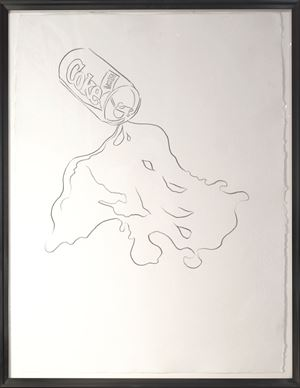 New Coke Drawing by Andy Warhol contemporary artwork