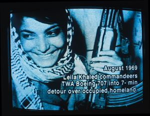 Leila Khaled,Palestinian Commando / Hijacker, Amman, August 1970 by Johan Grimonprez contemporary artwork