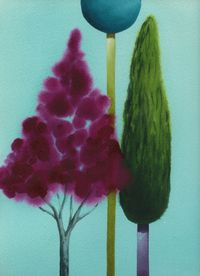 Trees by Nicolas Party contemporary artwork painting, works on paper