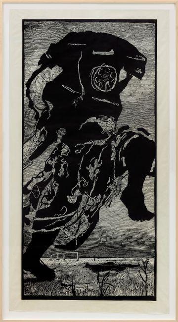 Telephone Lady by William Kentridge contemporary artwork