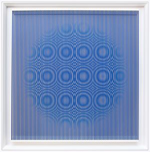 Blue rain by Alberto Biasi contemporary artwork
