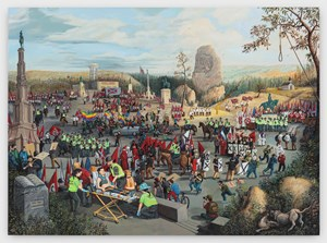 The Triumph of Hate (Charlottesville) by Sandow Birk contemporary artwork