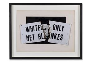 Mandela by Peter Kennard contemporary artwork