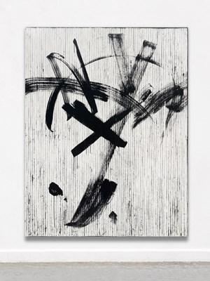 Schwarze Bewegung (zu PAAR) by Gregor Hildebrandt contemporary artwork