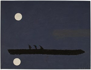 Three Black Cormorants on a Raft by Yeh Shih-Chiang contemporary artwork