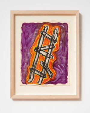 Ladder and Step Series #17 by Basil Beattie contemporary artwork