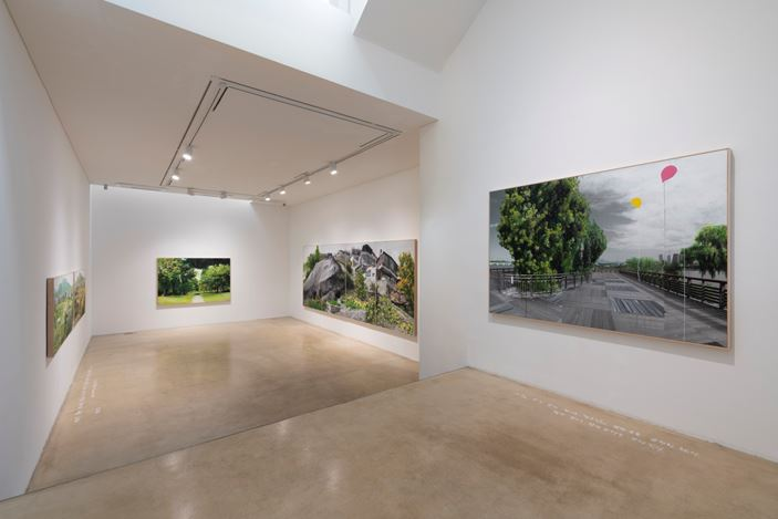 Exhibition view: Honggoo Kang,Study of Green-Seoul-Vacant Lot,ONE AND J. Gallery, Seoul (May 1–31, 2020). Courtesy ONE AND J. Gallery.