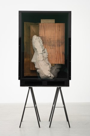 Double Head with Red Painting by Mark Manders contemporary artwork