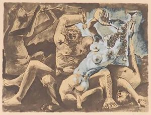 Bacchanal by Pablo Picasso contemporary artwork