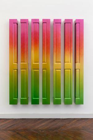 Sun Rise (Meadow Lark) by Jim Lambie contemporary artwork