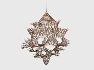 Untitled (S.595, Hanging Single Section, Reversible Open Windows Form) by Ruth Asawa contemporary artwork