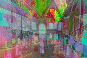 Morgan Great Hall by James Welling contemporary artwork