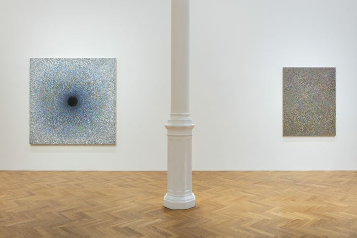 Exhibition view: Richard Pousette-Dart, Works 1940-1992, Pace Gallery, London (18 January–20 February 2019). Courtesy The Richard Pousette-Dart Estate and Pace Gallery.